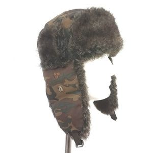 Other - Camoflauge Faux Fur Trapper Bomber Hat